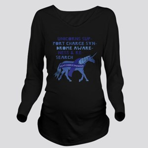 Unicorns Support Cha Long Sleeve Maternity T-Shirt