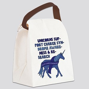 Unicorns Support Charge Syndrome Canvas Lunch Bag