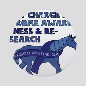 Unicorns Support Charge Syndrome Aw Round Ornament