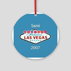 Sami Las Vegas Personalized Ornament (Round)