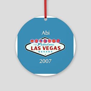 Abi Las Vegas Personalized Ornament (Round)