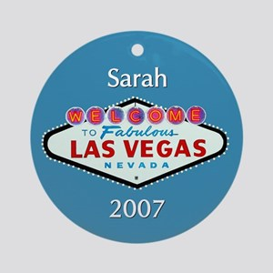 Sarah Las Vegas Personalized Ornament (Round)