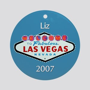 Liz Las Vegas Personalized Ornament (Round)