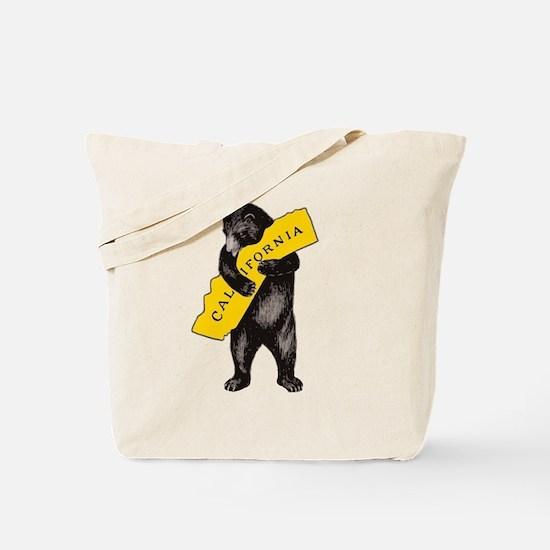 Vintage California Bear Hug Illustration Tote Bag