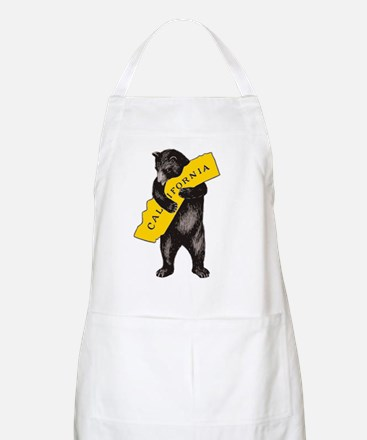 Vintage California Bear Hug Illustration Apron