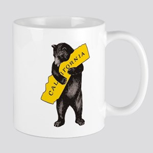 Vintage California Bear Hug Illustration Mugs