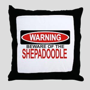 SHEPADOODLE Throw Pillow