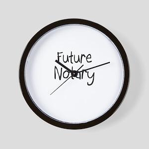 Future Notary Wall Clock