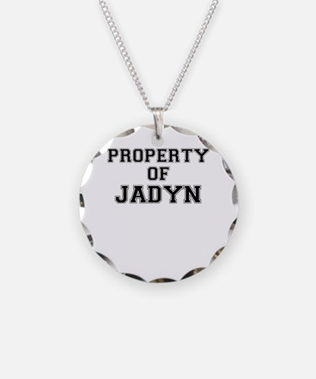 Property of JADYN Necklace Circle Charm