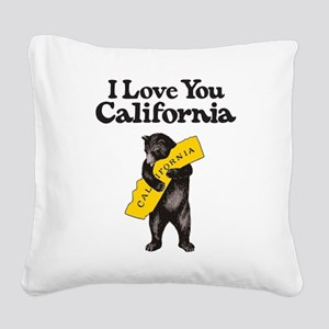 I Love You California Square Canvas Pillow