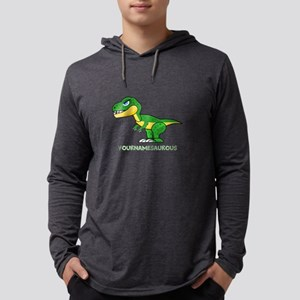 T-rex personalized Mens Hooded Shirt