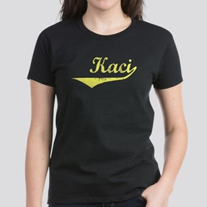 Kaci Vintage (Gold) Women's Dark T-Shirt