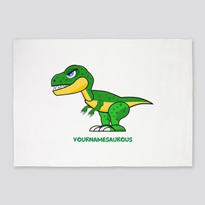 T-rex personalized 5'x7'Area Rug