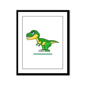 T-rex personalized Framed Panel Print