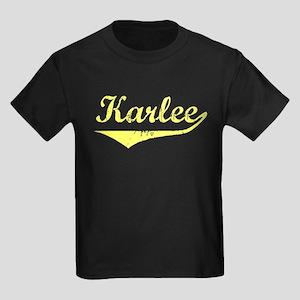 Karlee Vintage (Gold) Kids Dark T-Shirt