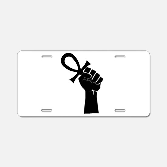 Black Life Aluminum License Plate