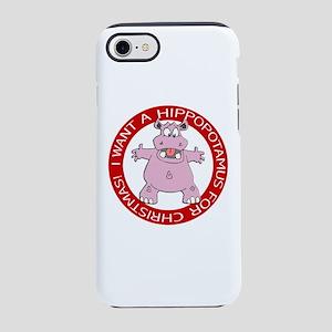 Hippo for Christmas iPhone 8/7 Tough Case