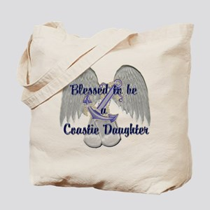Blessed Coastie Daughter Tote Bag