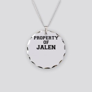 Property of JALEN Necklace Circle Charm