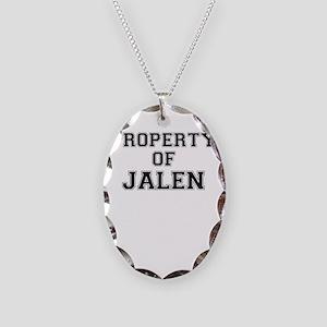 Property of JALEN Necklace Oval Charm