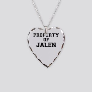 Property of JALEN Necklace Heart Charm