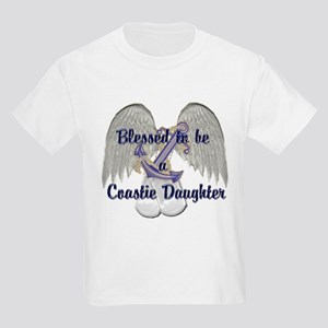 Blessed Coastie Daughter Kids Light T-Shirt