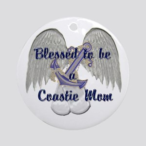 Blessed Coastie Mom Ornament (Round)