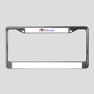 I Love Edwards! License Plate Frame