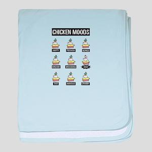 Chicken Moods baby blanket