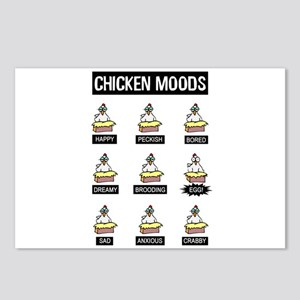 Chicken Moods Postcards (Package of 8)