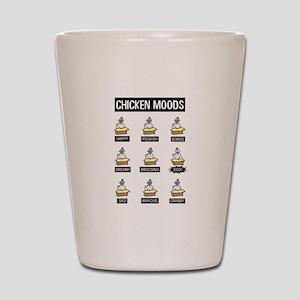 Chicken Moods Shot Glass