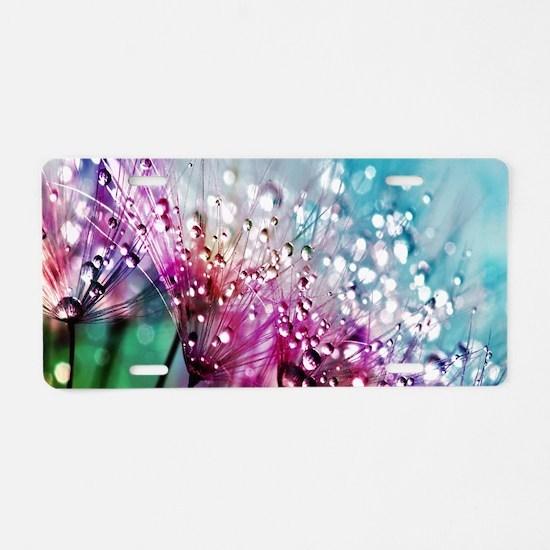 Dewdrops & Rainbows Aluminum License Plate