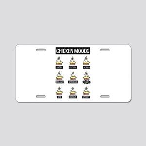 Chicken Moods Aluminum License Plate