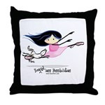 Ballet Babem Throw Pillow