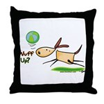 Rhubarb Puppy Throw Pillow