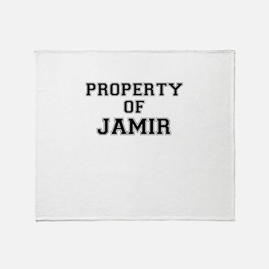 Property of JAMIR Throw Blanket