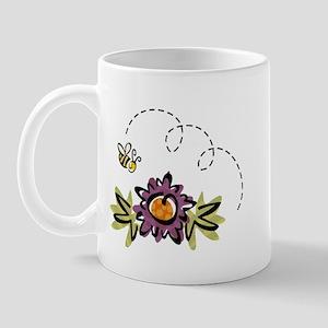 BEE & PURPLE FLOWER Mug