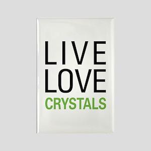 Live Love Crystals Rectangle Magnet