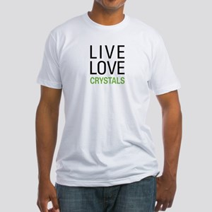 Live Love Crystals Fitted T-Shirt