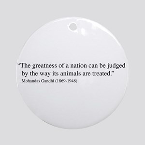 Ghandi Quote Ornament (Round)