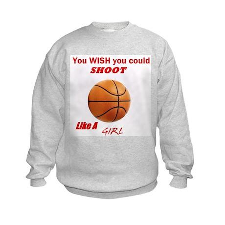 Girls basketball Kids Sweatshirt