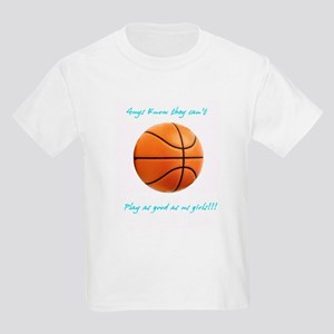 Girls Basketball Kids Light T-Shirt
