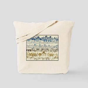 BACH Music Autograph Tote Bag