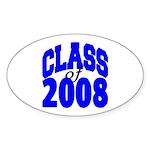 Class of 2008 Oval Sticker