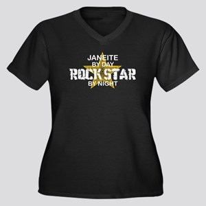 Janeite RockStar by Night Women's Plus Size V-Neck