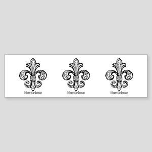 B & W graphic Fleur de lis Bumper Sticker