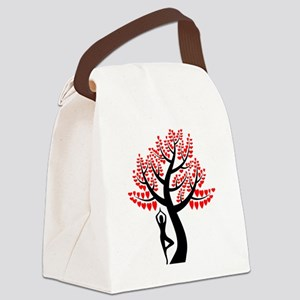 Heart Tree Canvas Lunch Bag