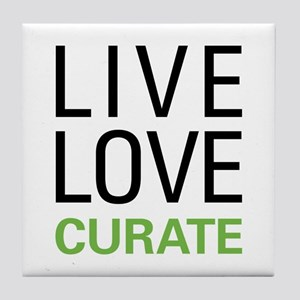 Live Love Curate Tile Coaster