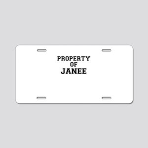 Property of JANEE Aluminum License Plate