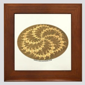 Circle Where Framed Tile